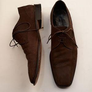 ERMENEGILDO ZEGNA Couture Suede Sz 8.5 D Shoes